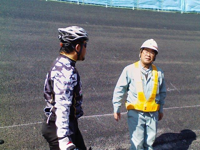京王閣バンク試走…。